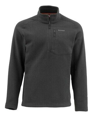 NWT Simms Fishing Rivershed Sweater Quarter Zip Size L Black Color