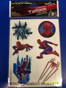 The amazing spider man movie superhero birthday party for Superhero temporary tattoos
