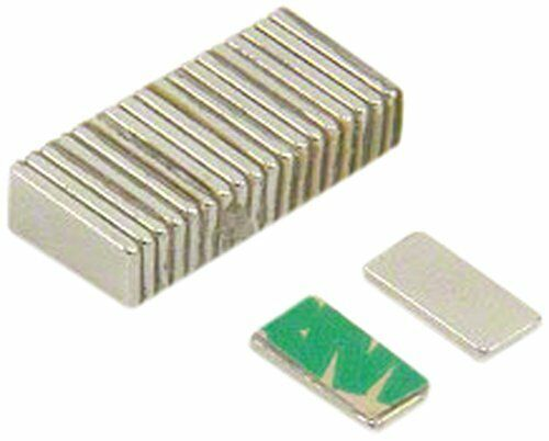 Magnet Expert® Self Adhesive 10 x 5 x 1mm thick N42 Neodymium Magnet - 0.6kg