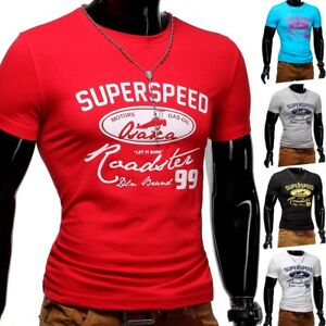 Strech-T-Shirt-O-Neck-Sport-Slim-fit-Body-Fit-Superspeed