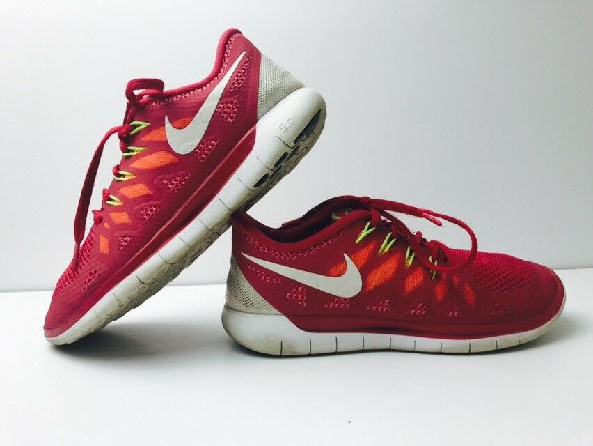 Nike FREE 5.0 Running Shoes 642199-601 Legion Red/White/Crimson Women's Sz 6.5 New shoes for men and women, limited time discount
