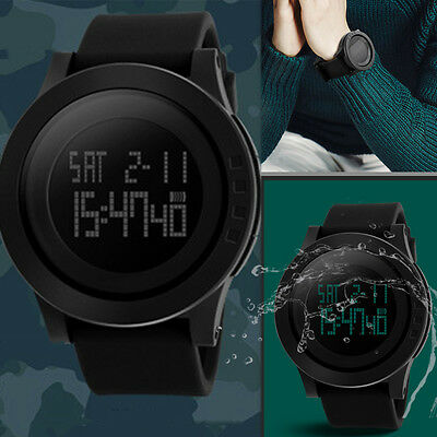 Simple Men Fashion Sport Waterproof LED Digital Analog Quartz Watch GIFTS
