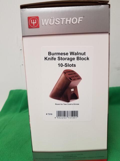Wusthof 10 Slot Knife Block - Burmese Walnut