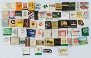 Vintage-Lot-of-63-Matchbooks-Advertisements-Restaurants-Hotels-Resorts-etc-g30