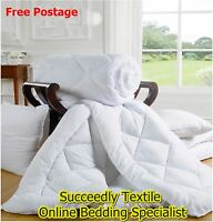 HOTEL QUALITY MICRO FIBRE FEELS LIKE DOWN DUVET ALL SIZES QUILTS DUVETS, PILLOWS