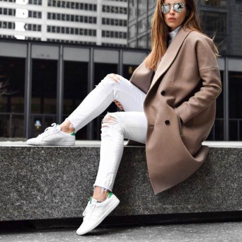 adidas Originals Női Miss Stan Trainers Lábbeli Fehér / zöld karcsú fit