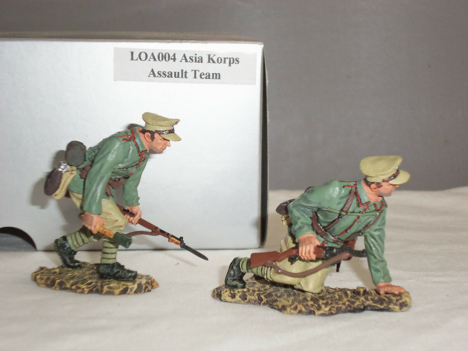 THOMAS GUNN LOA004 WW1 GERMAN STORMTROOPER ASIA KORPS ASSAULT TEAM FIGURE SET