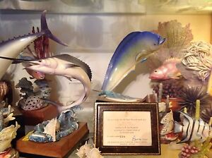 Royal-Worcester-rare-Game-Fish-DOLPHIN-3753-Mahimahi-Dorado-Van-Ruyckevelt