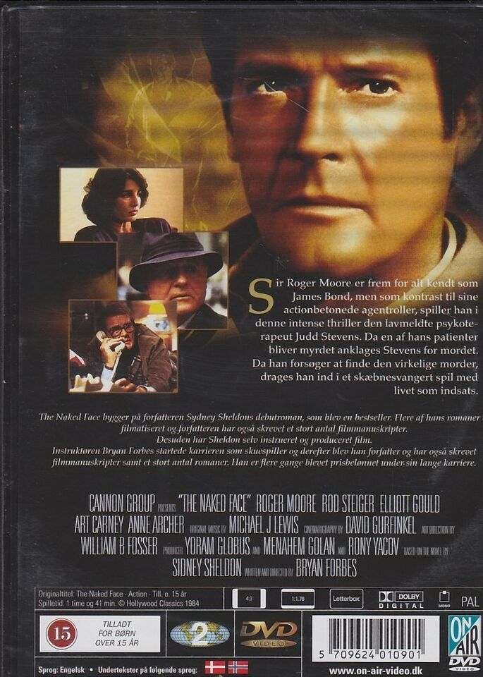 The Naked Face, DVD, action