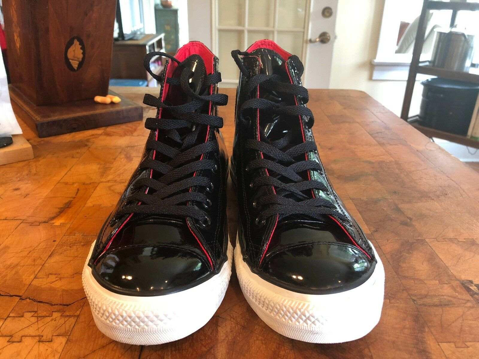 CONVERSE chuck taylor ALL STAR M9  W11 patent LEATHER high top LIMITED EDITION
