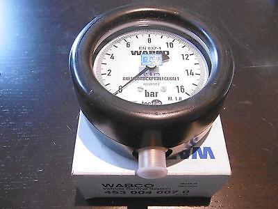 Wabco Bremsdruckprüfgerät max 16 bar Ø 100mm 453 004 007