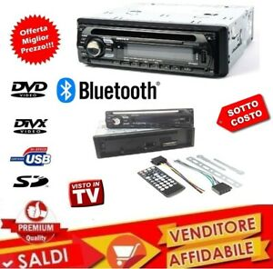AUTORADIO-STEREO-AUTO-RADIO-FM-MP3-SD-USB-DVD-CD-AUX-50Wx4-VIVAVOCE-BLUETOOTH