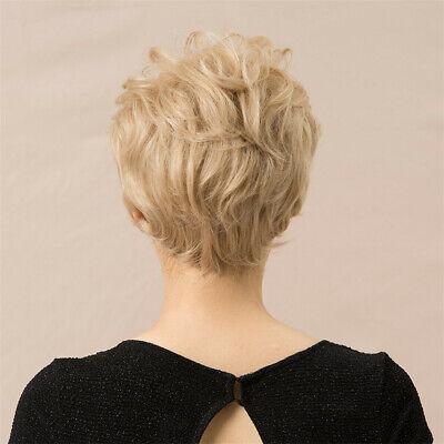 8 Retro Short Blonde Pixie Cut Human Hair Wigs For Women Cosplay Heat Safe Ebay