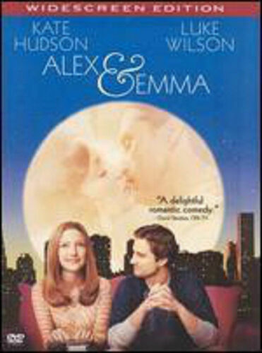 1 of 1 - Alex and Emma (DVD, 2003, Widescreen) Kate Hudson WORLD SHIP AVAIL!