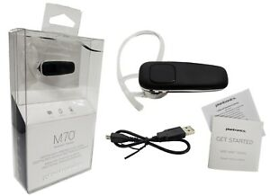 Plantronics-M70-Bluetooth-Headset-Leicht-Streaming-Musik-GPS-Schwarz-Retail