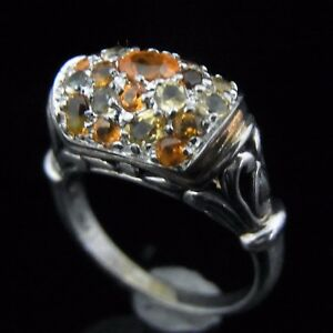 JOHN-HARDY-18k-Yellow-Gold-Sterling-Silver-925-Citrine-Gemstone-Ring-Estate-Gift