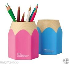 2 Big Pencil Style Pen Ruler Holder Desk Organizer  Home Office Kids Pen Holder