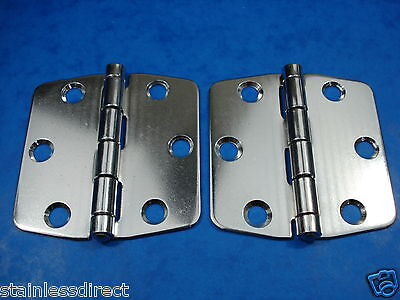 NEW STAINLESS STEEL MARINE GRADE 316  BUTTERFLY HINGES (PAIR) NO RUST