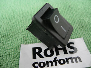 Details about 3pc SPST ON/OFF Heavy Duty 19x12 Hole Power Rocker Switch  110V 10A/125v 6A/250V