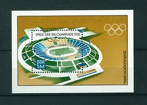 East-Germany-1976-Olympic-Games-Montreal-Mini-sheet-of-stamps-Mint-Sg-MSE-1847