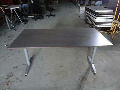 Ikea Galant Brown Silver Adjustable Height Work Surface ...