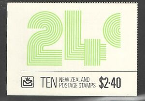 New Zealand 1983 SG SB37a SCARCE 2.40 Inverted Pane Booklet UMM MNH