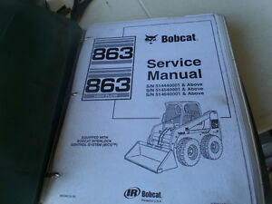 Bobcat 863 863hf turbo skid steer loaders service manual.