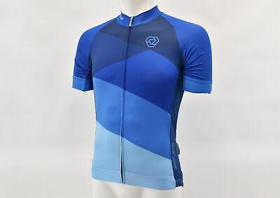 Verge Men/'s Medium Speed Short Sleeve Tri Top Blue New Old Stock