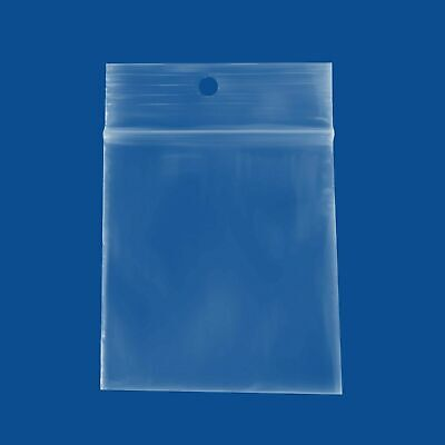 "Clear Ziplock Hang up Reclosable Bags 2 Mil Mini Zip Baggies 4000 Pcs 4/"" x 6/"""