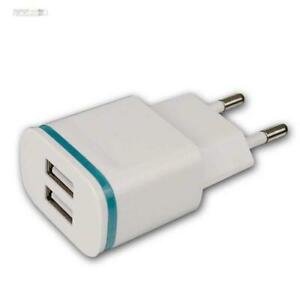 USB Steckdose Ladegerät Netzteil mit 2x USB Buchse 2.1A Handy Smartphone Tablet