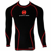 Mens Compression Skin Fit Base Layer Thermal Gym Sports Under Shirt Top Armour