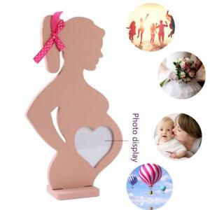 Pregnant-Woman-Wooden-Photo-Frame-Baby-Heart-Table-Decor-Cute-Home-Decoration