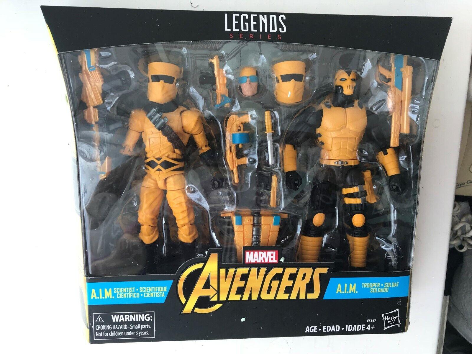 Nuevo Y En Caja MARVEL leyendas Vengadores Serie A.i.m. Soldier & científico Figura Set 2 Pack