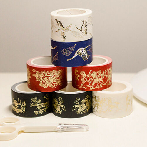 Washi Tape Bronzing Paper Tape Fresh Designs Paper Sticker for DIY Scrapbooking