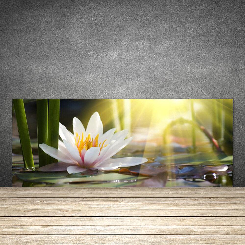 Crédence de cuisine en verre Panneau 125x50 Floral Eau Fleur