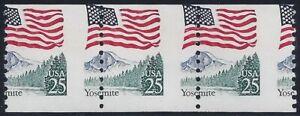 """2280 Misperf & Miscut Error / EFO Strip of 3 """"Yosemite"""" Mint NH"""
