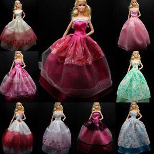 1-10-PZ-Party-Abito-da-sposa-abiti-vestiti-10-paia-di-scarpe-per-Barbie-Doll