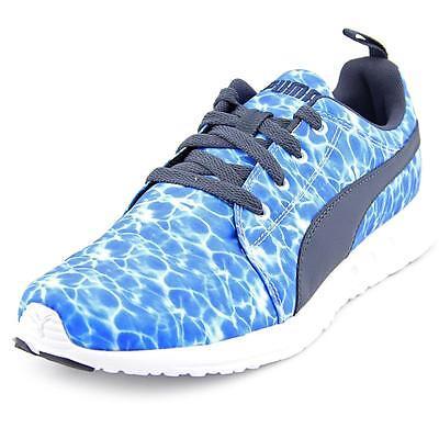 Puma Carson Runner Men  Round Toe Canvas Blue Running Shoe