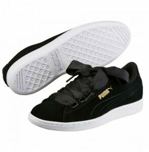 Puma-vikky-Ribbon-41-senora-low-top-cortos-con-saten-bucle-gamuza-cuero