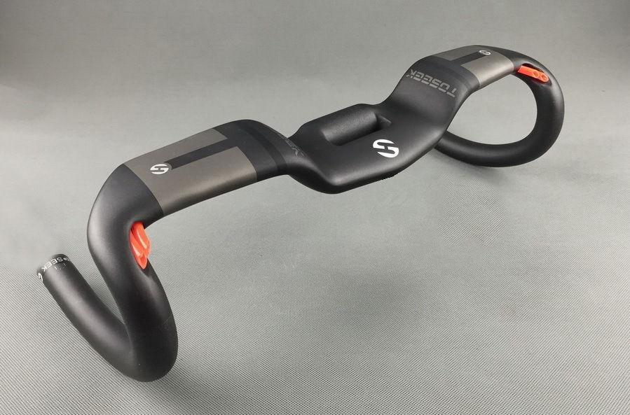 TOSEEK Full Carbon Aero Drop Handlebar For Road Bike Bar rise 31.8 400 420 440