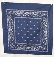 Wholesale Lot 12 (1 Dozen) 22x22 Paisley Light Navy Blue Bandana