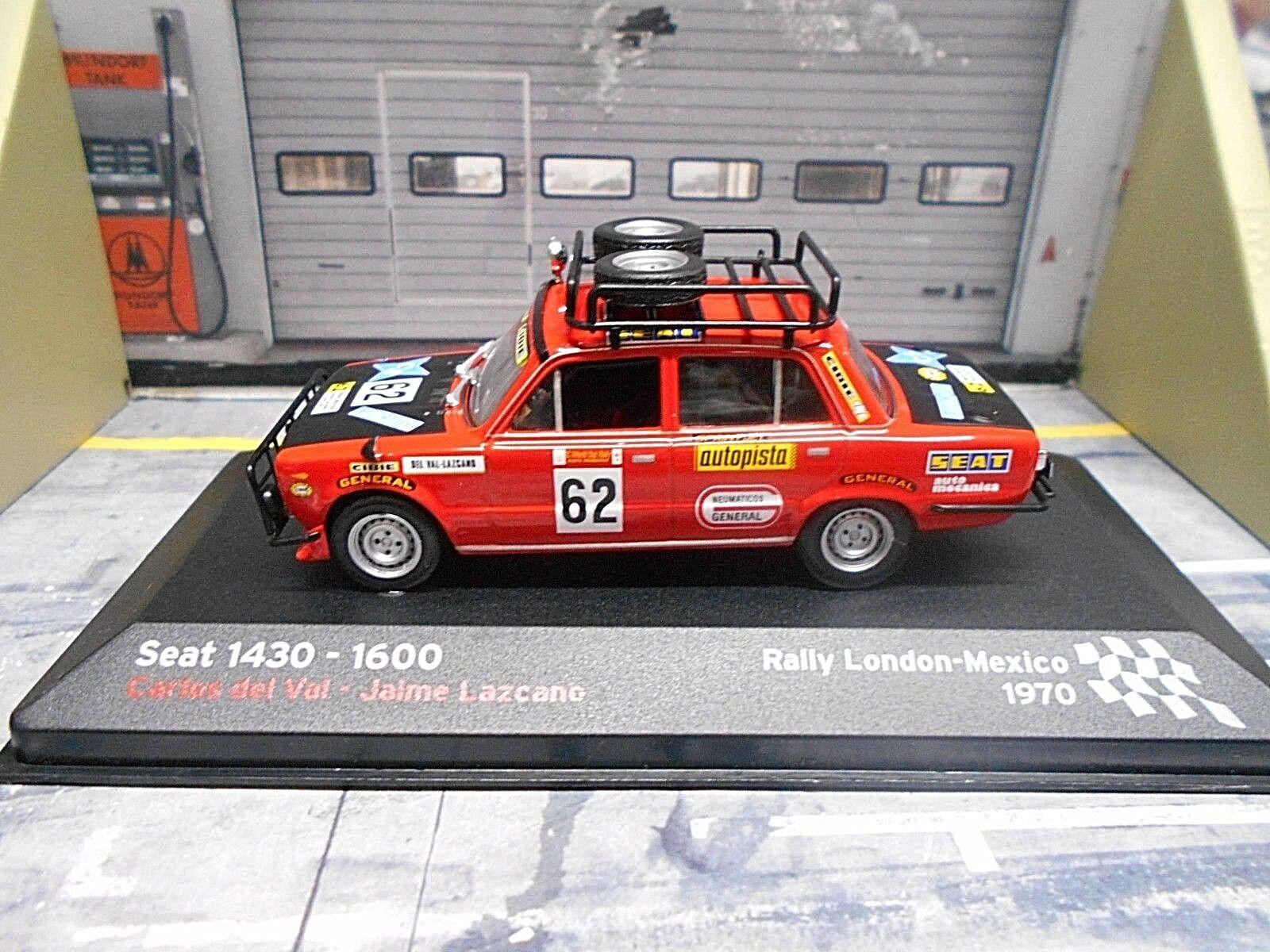 FIAT SEAT 1430 1600 RALLYE LONDRES MEXICO 1970  62 DEL VAL IXO ALTAYA 1 43