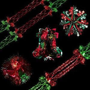 Snow-White-Christmas-Foil-Ceiling-Decorations-Red-amp-Green-Choose