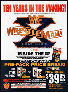 WWF-WRESTLEMANIA-X-Original-1994-Trade-print-AD-promo-Industry-Only-advert-10