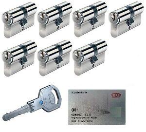 7er set bks livius profilzylinder schlie zylinder gleichschlie end kopieschutz ebay. Black Bedroom Furniture Sets. Home Design Ideas