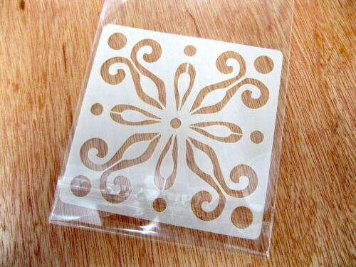 Méditerranée No.1 Tuile Artisanat Stencil Lavable Réutilisable Mylar 10 cm ou 15 cm