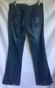 bottes 7 30 bleu Jeans All Sz denim coupe poche Fabriqu For en Mankind vXwIqR