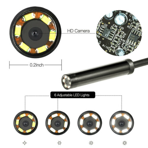 HD 5.5mm 2IN1 6LED Mini USB Android Endoscope IP67 Inspection Camera 3Color ~F