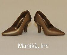 Randall Craig RTW Gold Pointed Toe Pumps fit FR, Barbie & 12-inch female dolls