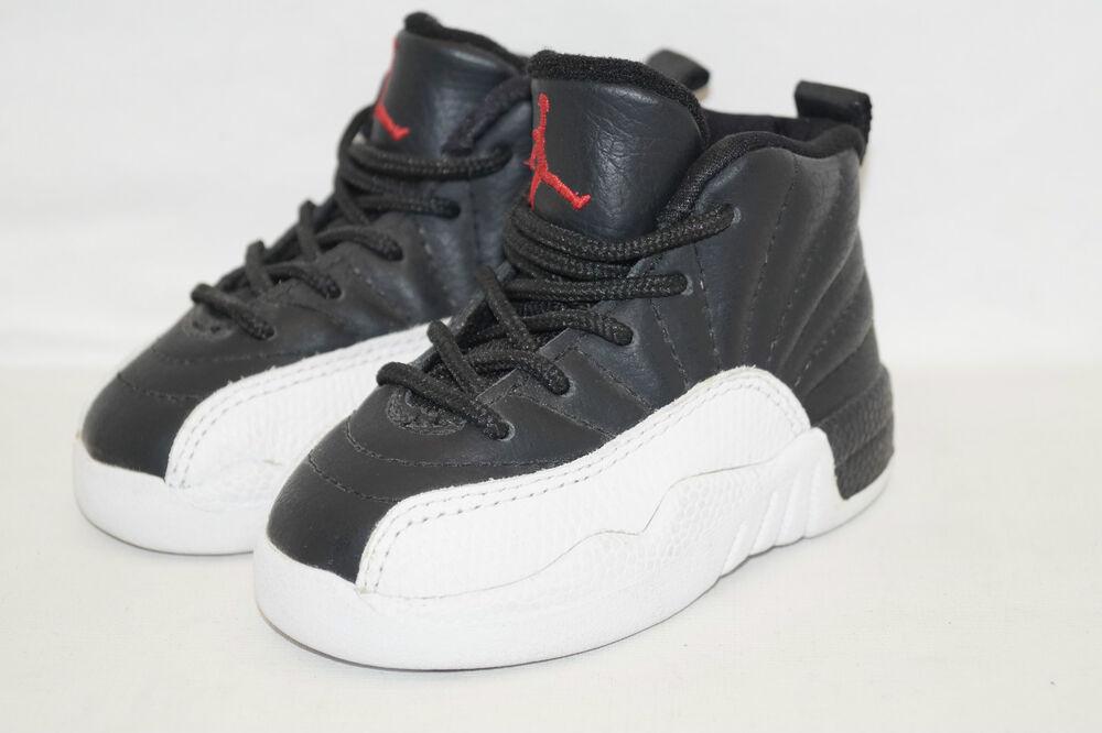 Nike Air Noir/Blanc Jordan 12 Retro samples Noir/Blanc Air 85000-062 Toggler taille 21 us.5c- Chaussures de sport pour hommes et femmes 77a3bf
